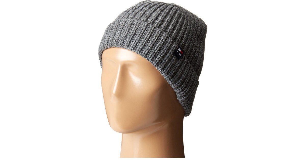 8b3aa01fd Tommy Hilfiger - Gray Super Chunk Manly Hat for Men - Lyst