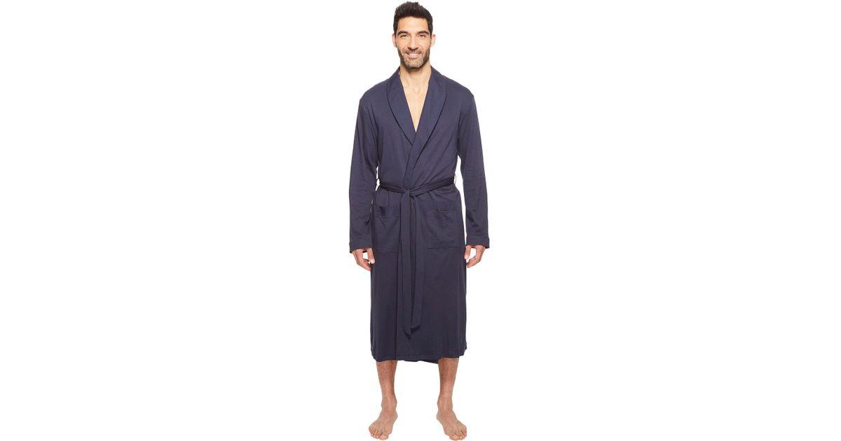 6c22e2f5b4 Lyst - Hanro Night And Day Robe (black Iris) Men s Robe in Blue for Men