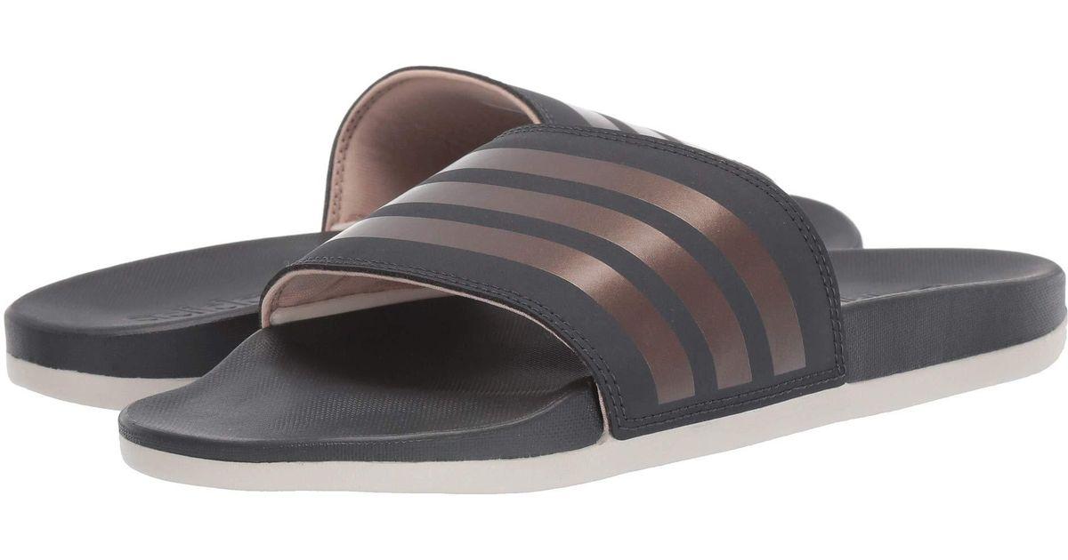 90ec189beb67 Lyst - adidas Adilette Comfort (white white black) Women s Shoes in Gray