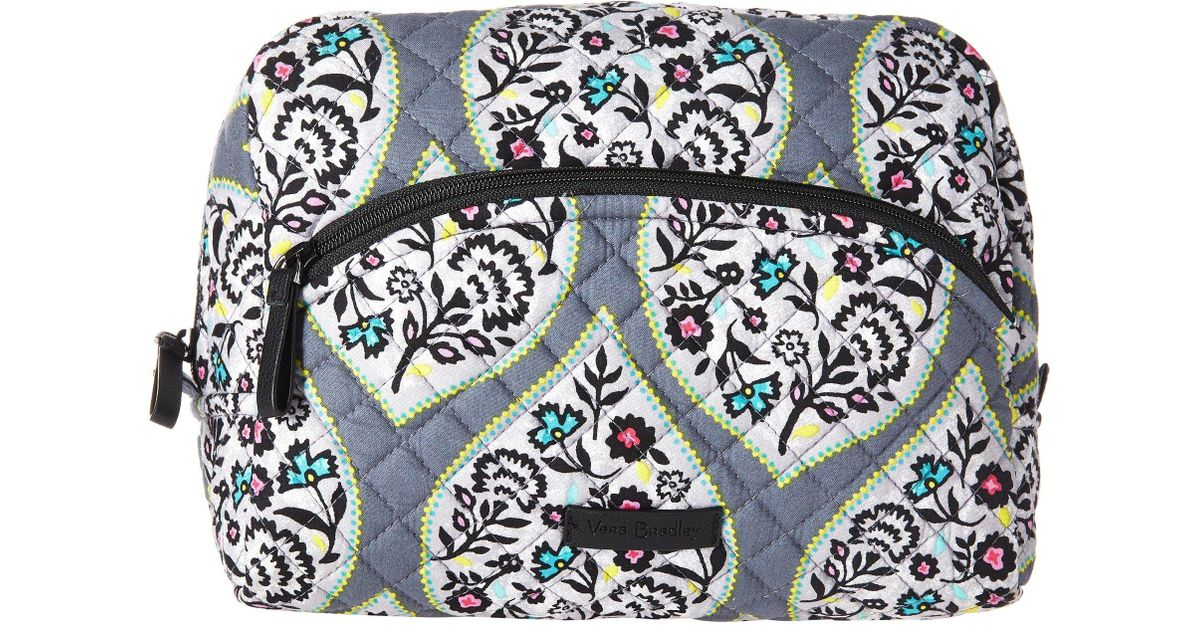 5307679dcb32 Lyst - Vera Bradley Iconic Large Cosmetic (classic Black) Cosmetic Case