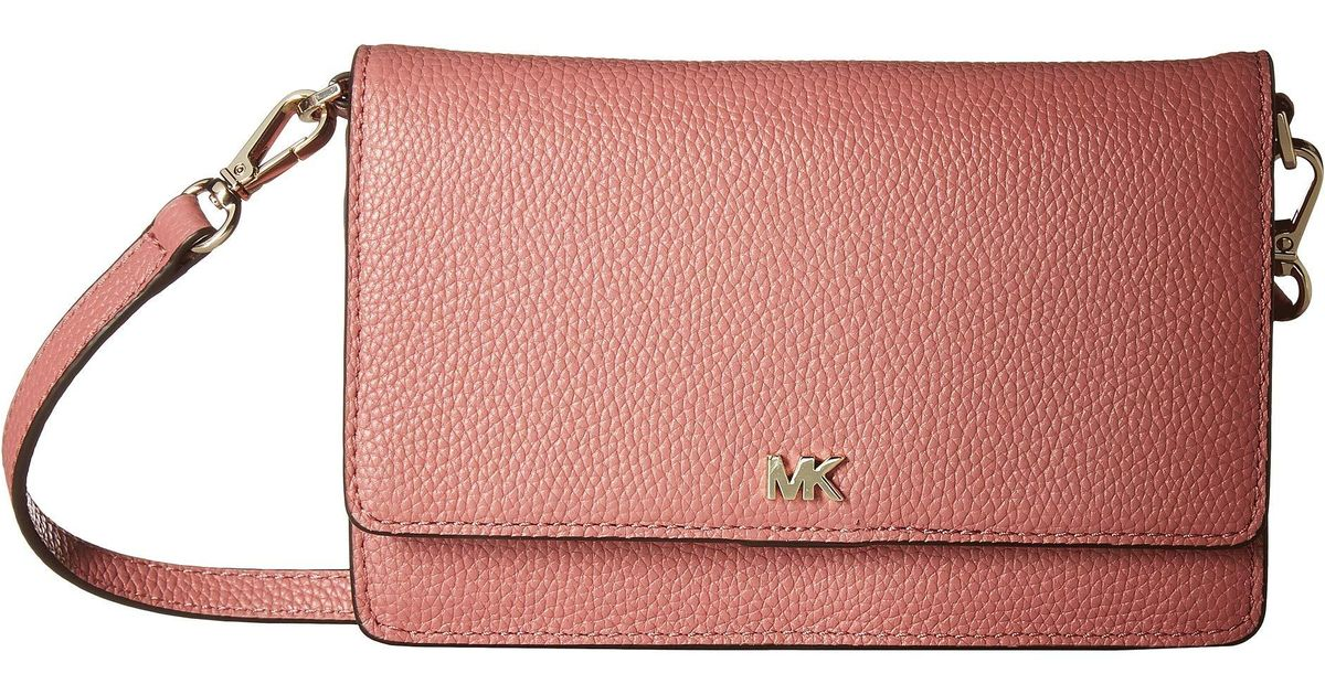 2b7319f23fa6 Lyst Michael Kors Phone Crossbody Bright Red Cross Body
