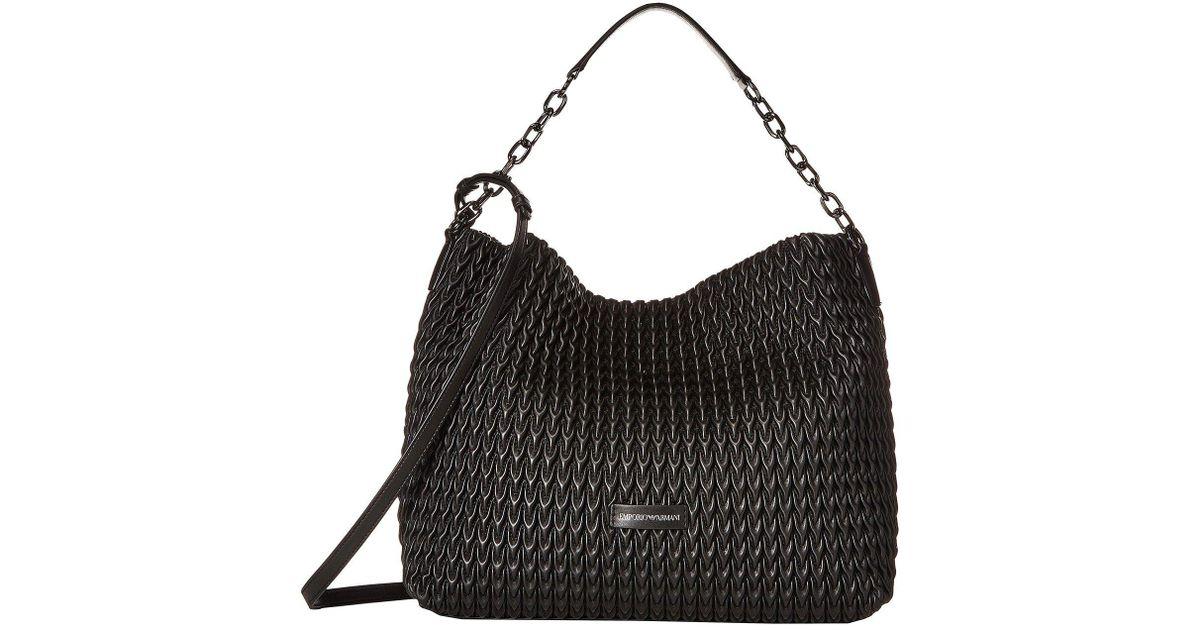 Emporio Armani Quilted Handbag (stone) Handbags