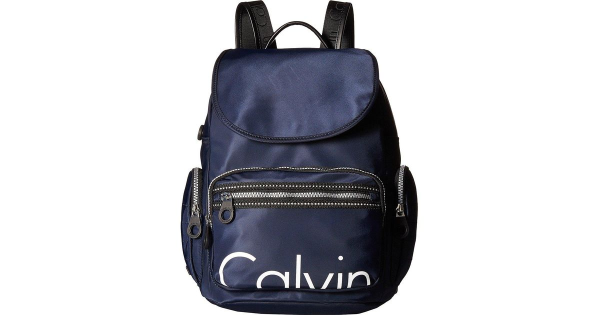 3885052a54d Calvin Klein Athleisure Nylon Backpack in Blue - Lyst