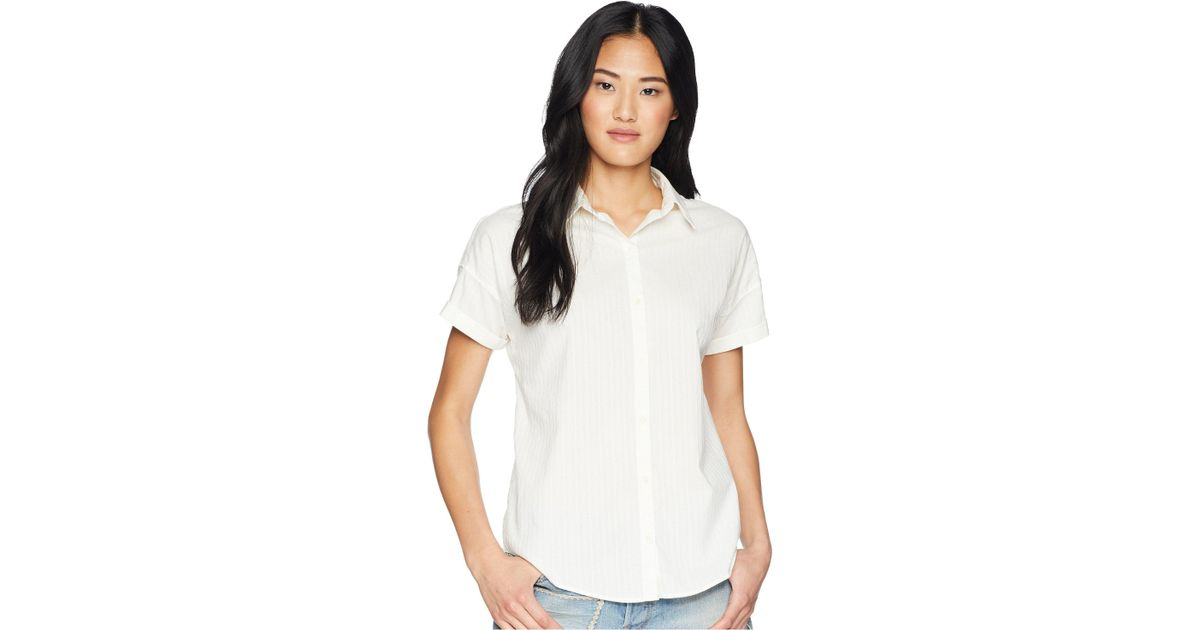 6d36f468dc660 Lyst - Levi s Sadie Shirt in White - Save 7%