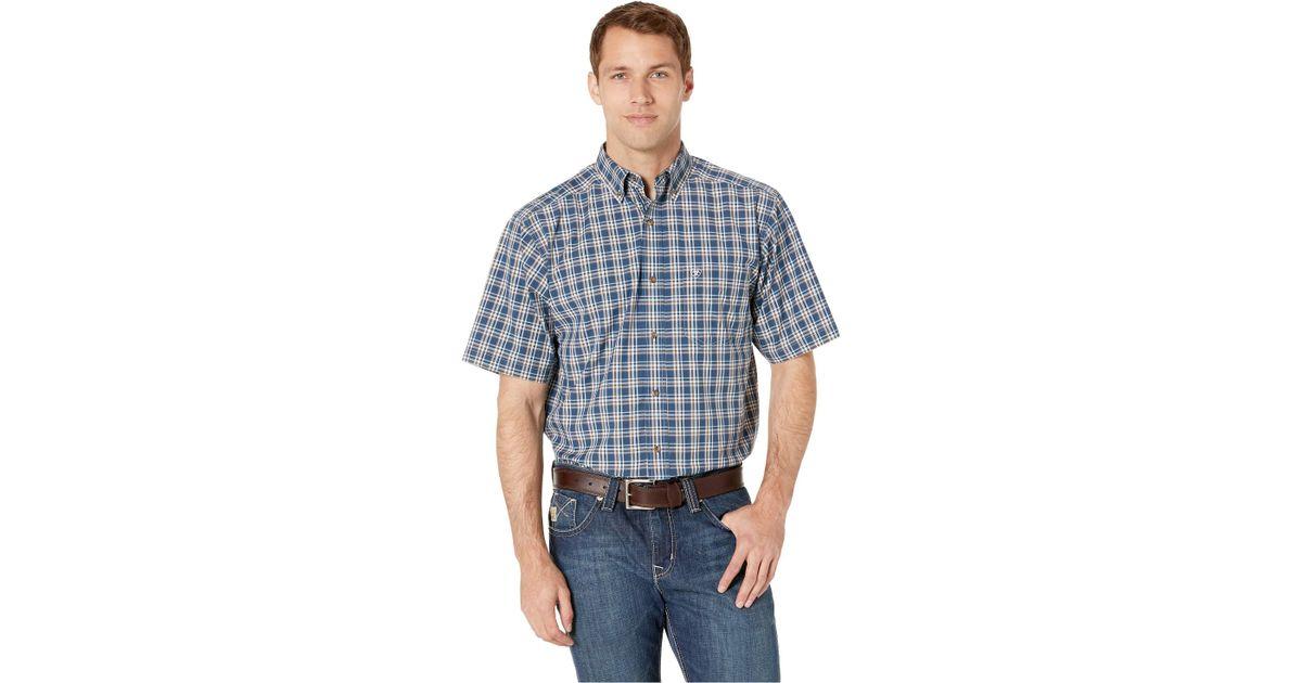 fd92aec5b3 Lyst - Ariat Harold Shirt (petrol Blue) Men s Short Sleeve Button Up in  Blue for Men