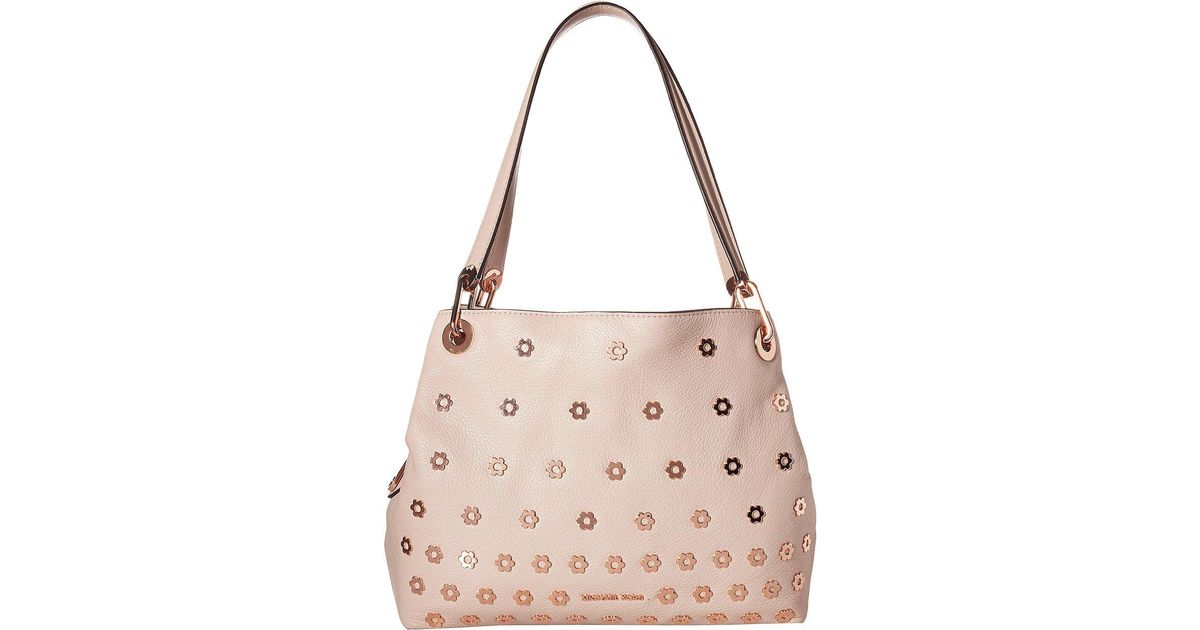 20cf0b9e6a6f55 MICHAEL Michael Kors Raven Large Shoulder Tote in Pink - Lyst
