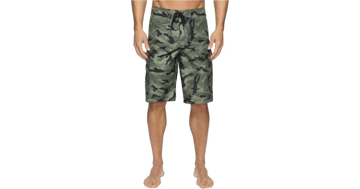 d545aa3657 Quiksilver Manic Camo 22 Boardshorts (forest Night) Men's Swimwear in Green  for Men - Lyst