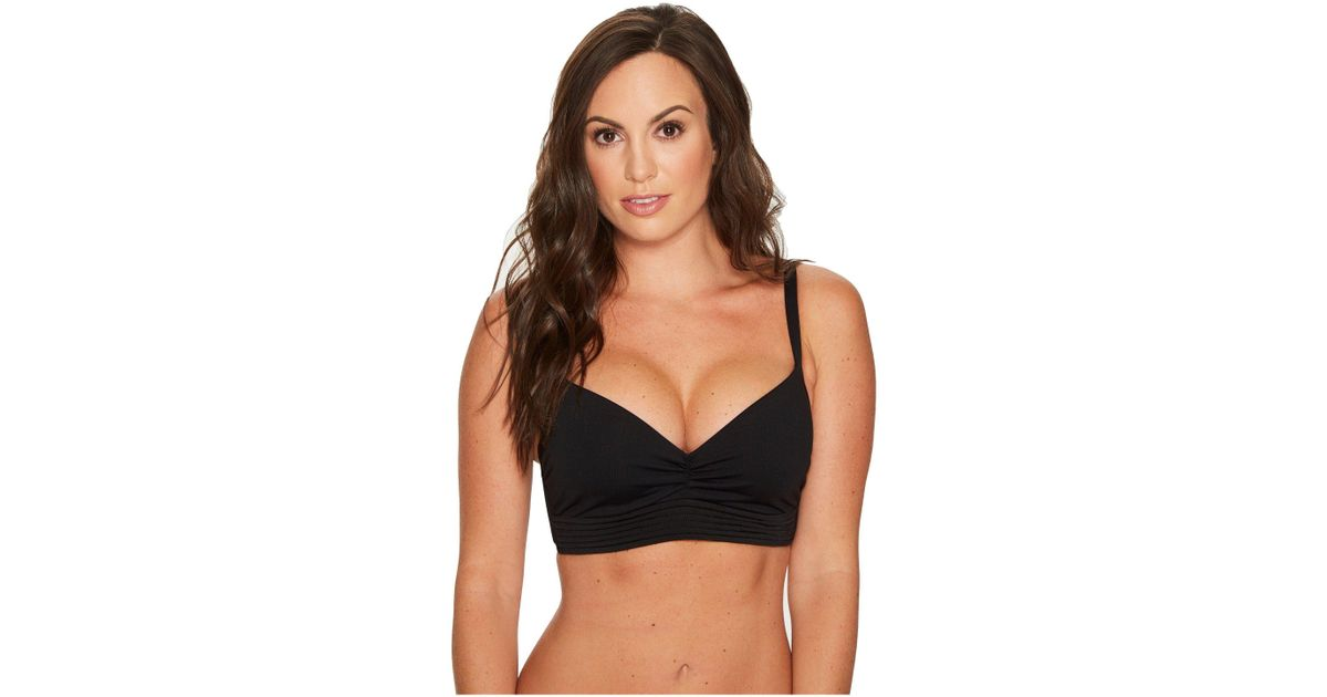 89a5f118f7 Lyst - Seafolly Quilted Dd Cup Bra in Black - Save 22%