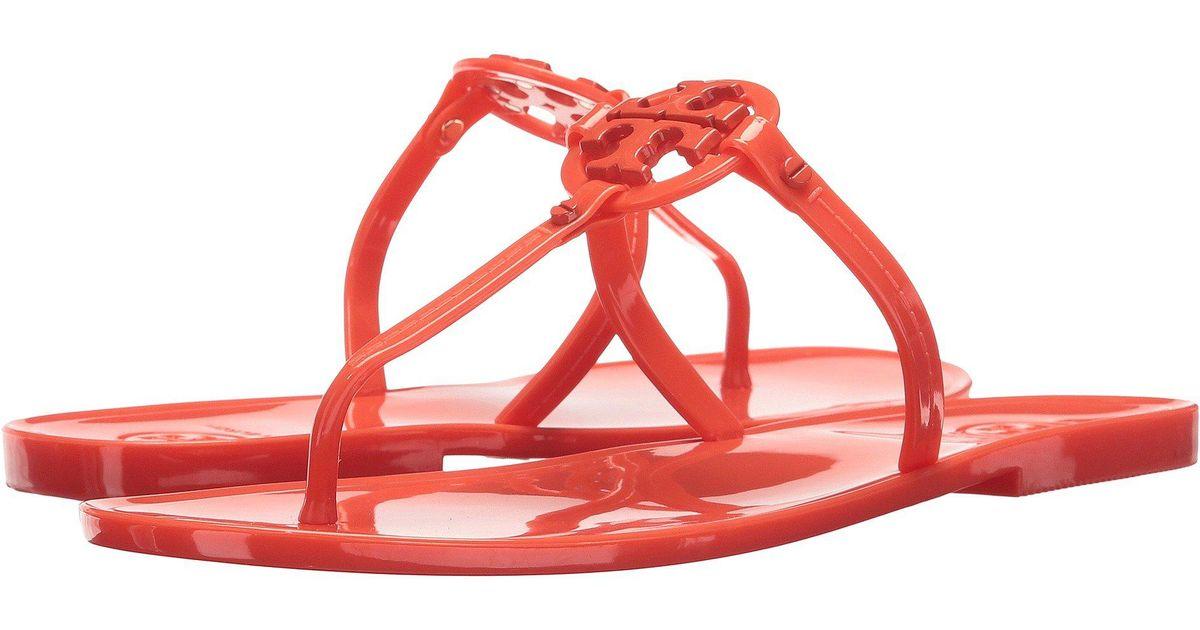 c9b423b6a8ac Lyst - Tory Burch Mini Miller Flat Thong (bright Indigo) Women s Sandals in  Red
