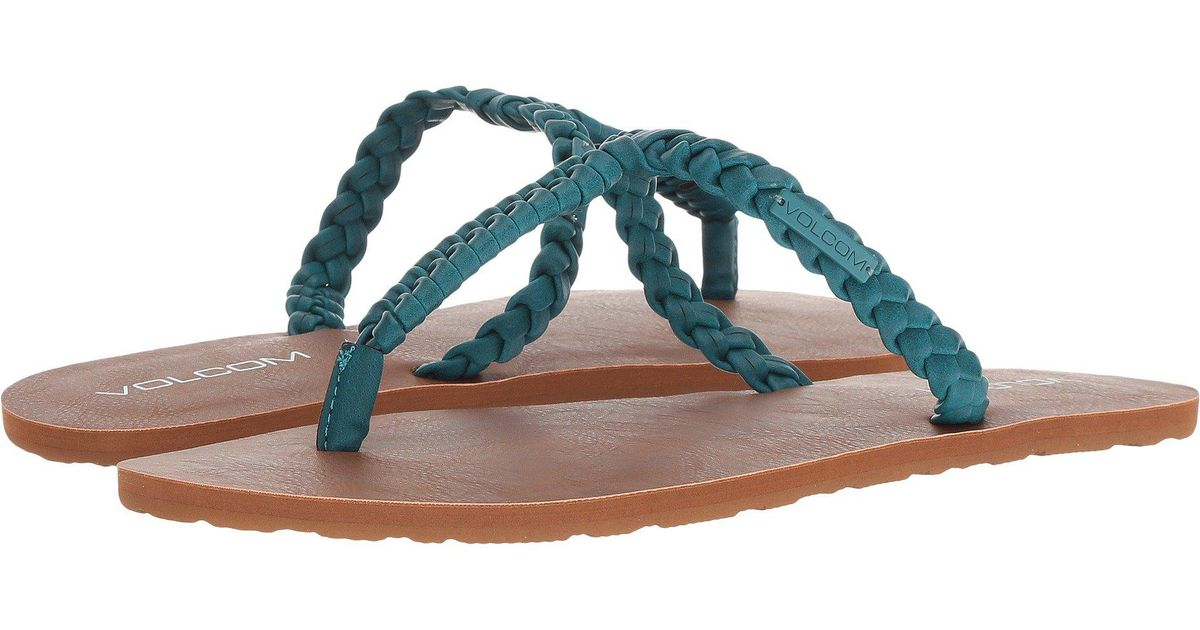 371cf993f Lyst - Volcom Fishtail Sandals in Blue - Save 39%