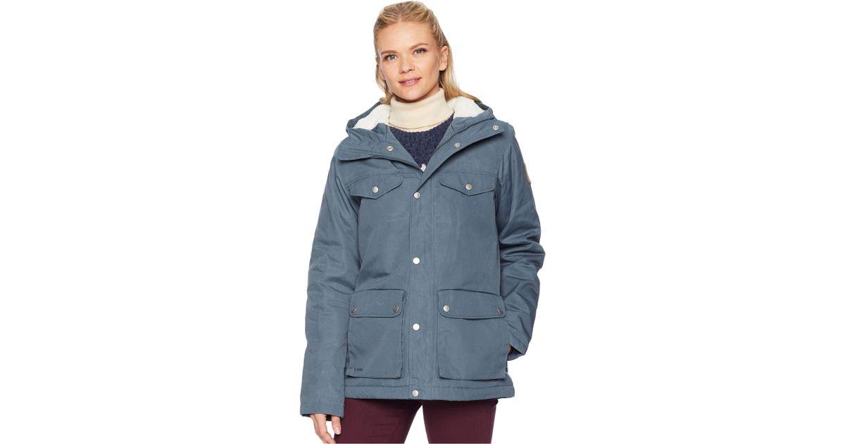 d14094d3933 Lyst - Fjallraven Greenland Winter Jacket (dusk) Women s Coat in Blue