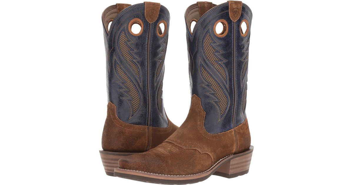 2c4ae924e2c Ariat - Brown Heritage Roughstock Venttek (gingersnap/two-tone Tan) Cowboy  Boots for Men - Lyst