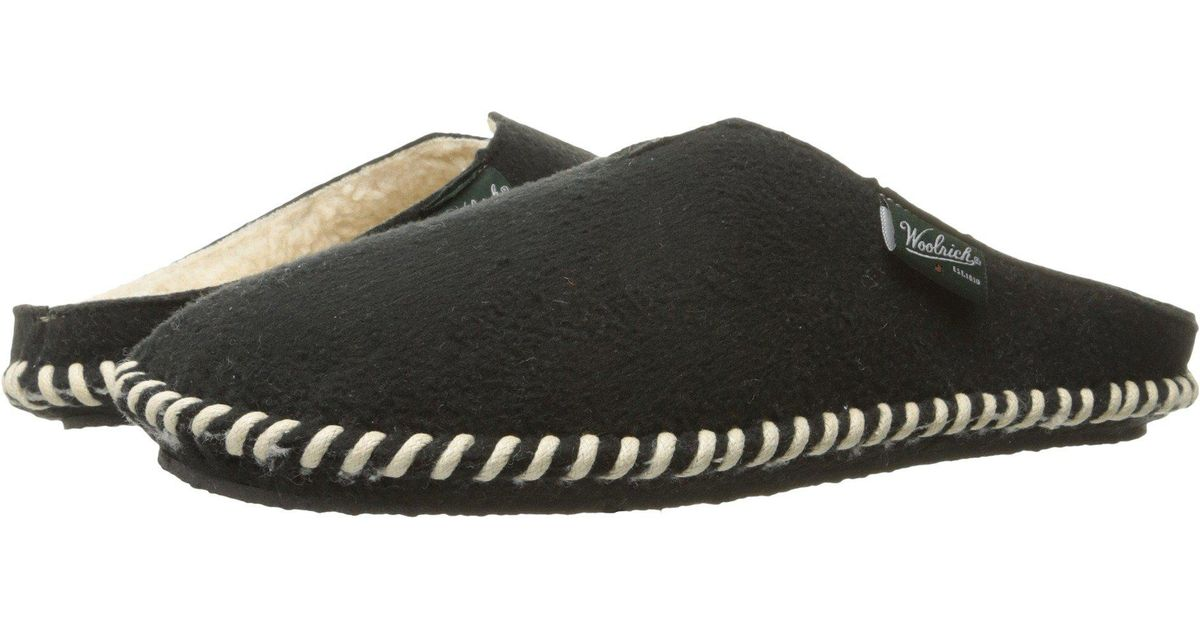 8fc0d33a5 Lyst - Woolrich Mill Scuff Faux Shearling Lined Slipper (women) in Black -  Save 56%