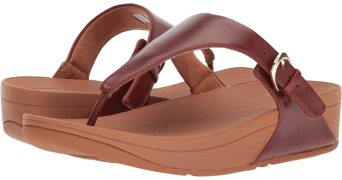 f162845fc6a9 Lyst - Fitflop Skinny Toe Thong Sandal in Brown - Save 34%