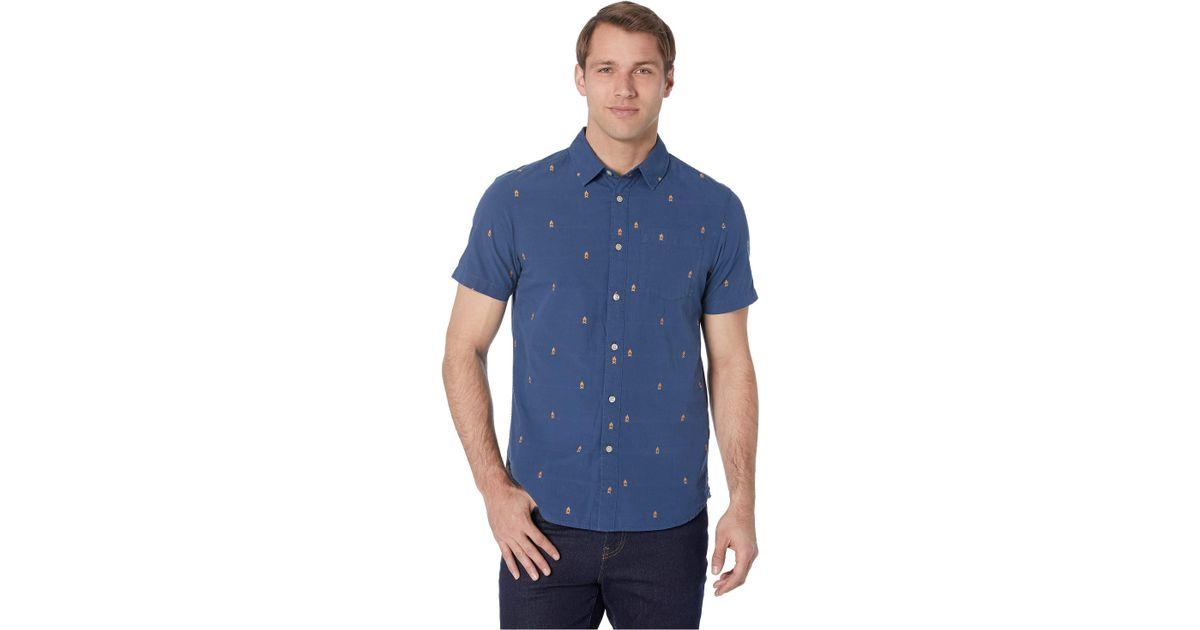 fdd23710c The North Face - Blue Short Sleeve Baytrail Jacquard Shirt (vintage White  Him Suit Jacquard) Men's Short Sleeve Button Up for Men - Lyst