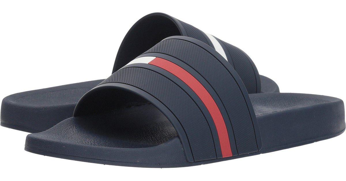 489dc8f5aedc83 Lyst - Tommy Hilfiger Ennis (grey) Men s Slide Shoes in Blue for Men