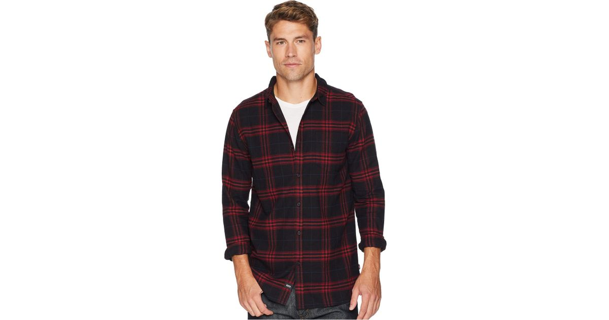 c598be7fdf16 Globe Dock Plaid Long Sleeve Standard Fit Shirt in Red for Men - Lyst