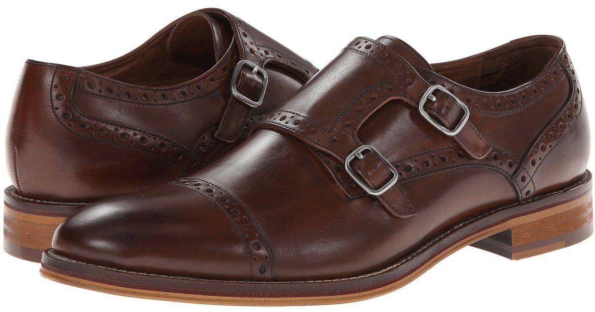 Lyst Johnston Murphy Conard Causal Dress Double Monk Strap Mahogany Italian Calfskin Men S Shoes In Brown For