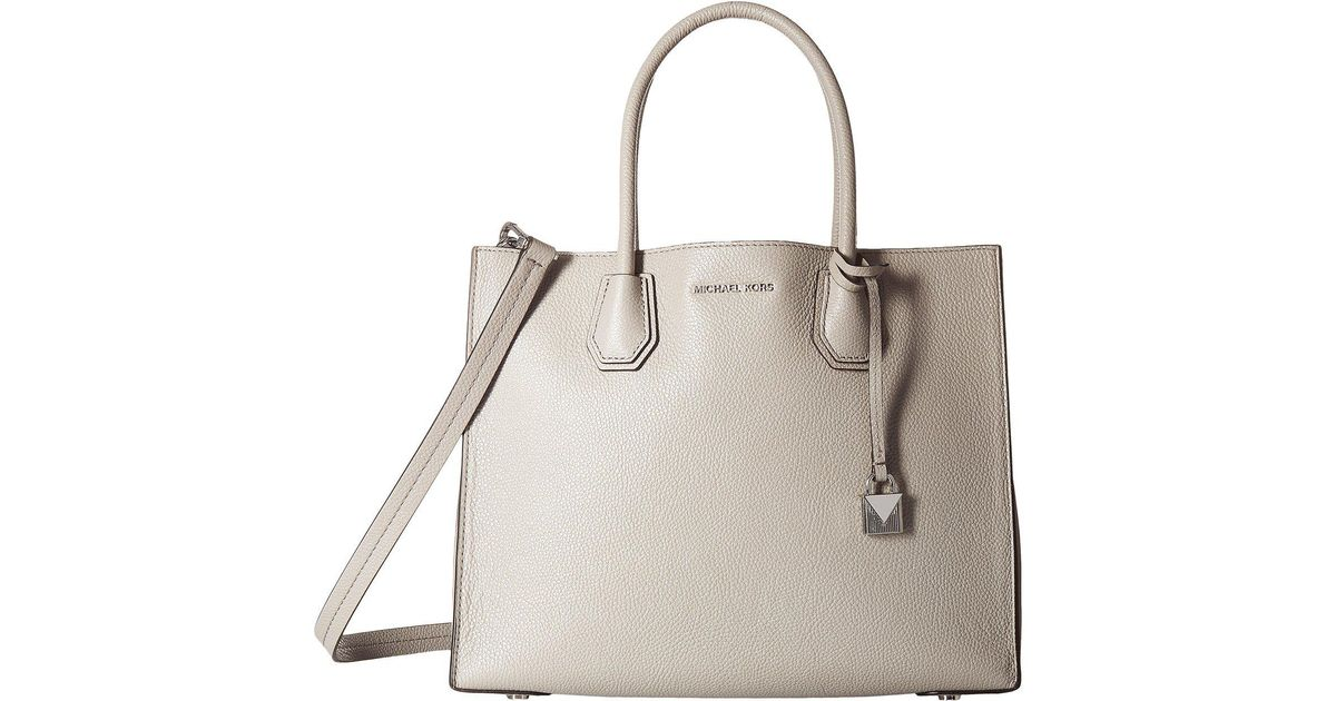 87426185e0cddf Lyst - Michael Michael Kors Mercer Large Convertible Tote (soft Pink) Tote  Handbags in Gray