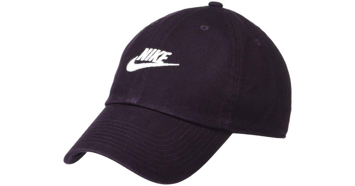 d28b86aa1b890 Nike Sportswear H86 Futura Washed Cap (burgundy Ash/burgundy Ash/white) Baseball  Caps in Blue for Men - Lyst