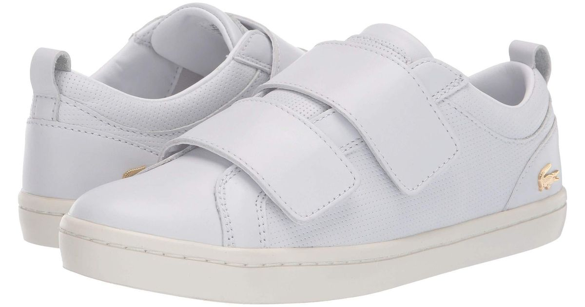 7a929839278fc5 Lyst - Lacoste Straightset Strap 119 1 (grey off-white) Women s Shoes in  White