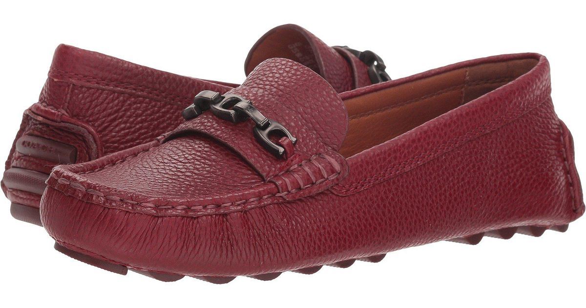 3fc016a6289 Lyst - COACH Crosby Driver (silver Metallic Rock) Women s Slip On Shoes in  Red