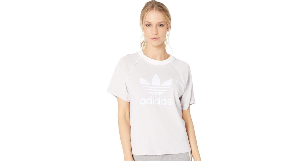 8878e9ab7ff Lyst - adidas Originals Trefoil T-shirt (ice Purple) Women s T Shirt in  White