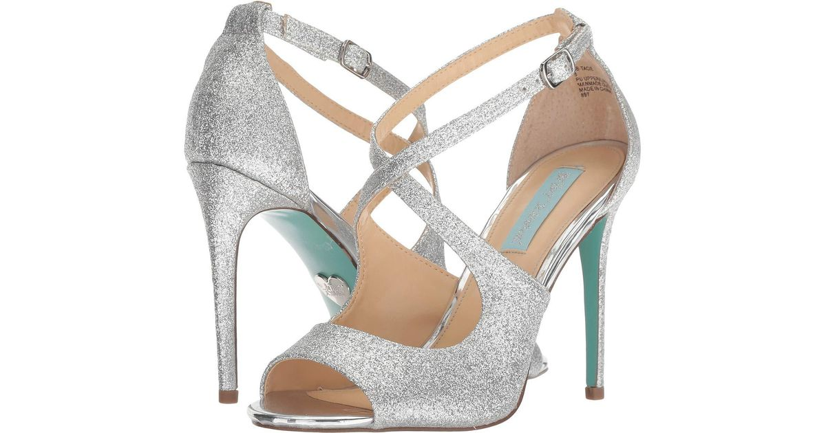 6cf5e400201 Lyst - Betsey Johnson Tracie (gold Glitter) High Heels in Metallic