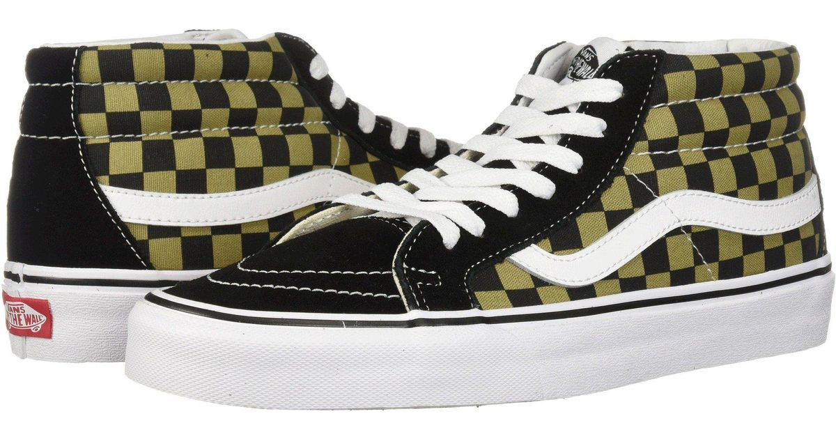 b009624b678715 Lyst - Vans Sk8-mid Reissue ((two-tone Checker) Boa black) Skate Shoes in  Black for Men