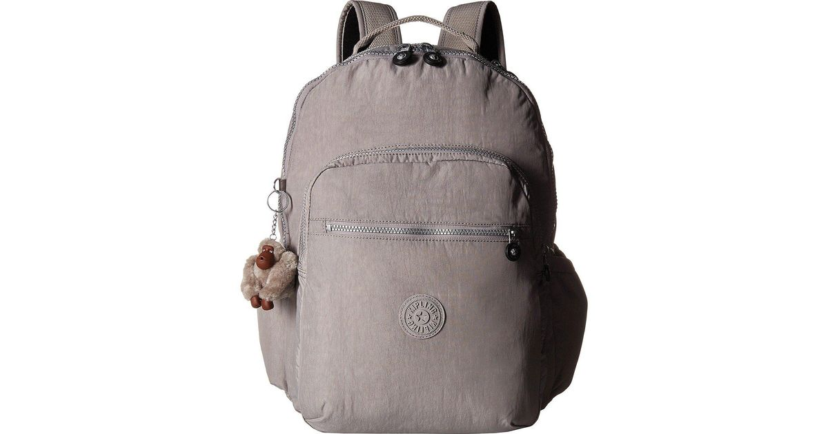 e824b111b2 Kipling Seoul Go Backpack (fern Green) Backpack Bags in Gray - Lyst