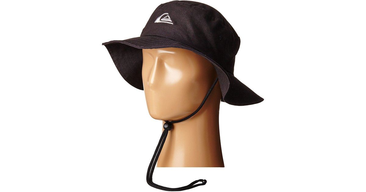 93cfa00e5a8da ... where to buy lyst quiksilver bushmaster hat black caps in black for men  1b8b4 04279