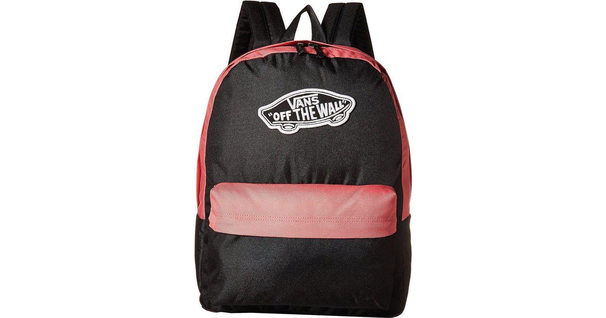 464581114 Vans Realm Backpack (desert Rose) Backpack Bags in Black - Lyst