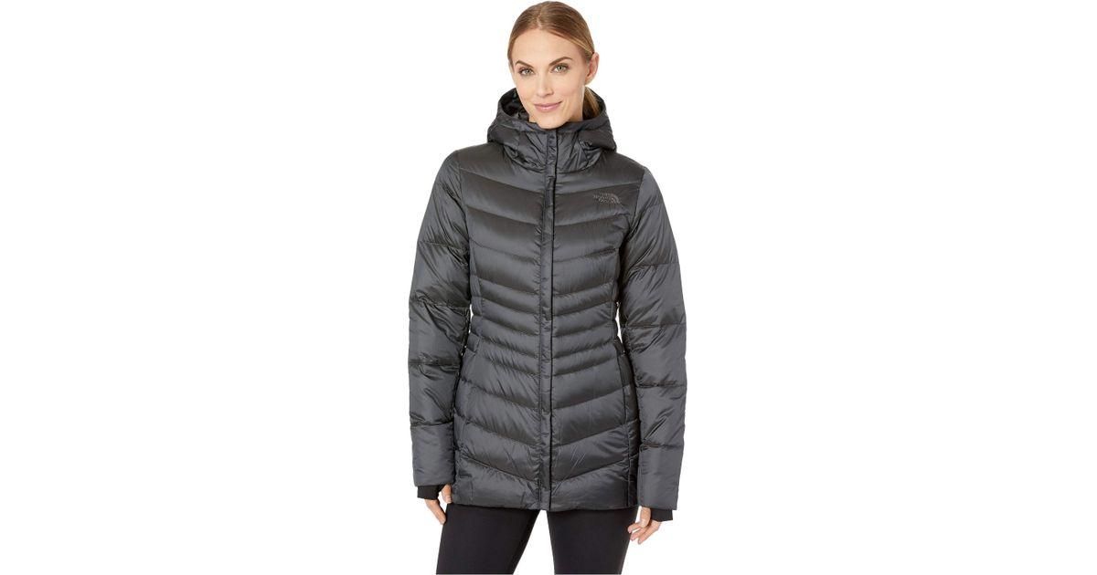 fa1957d92e650 Lyst - The North Face Aconcagua Parka Ii (shiny Asphalt Grey) Women s Coat  in Gray