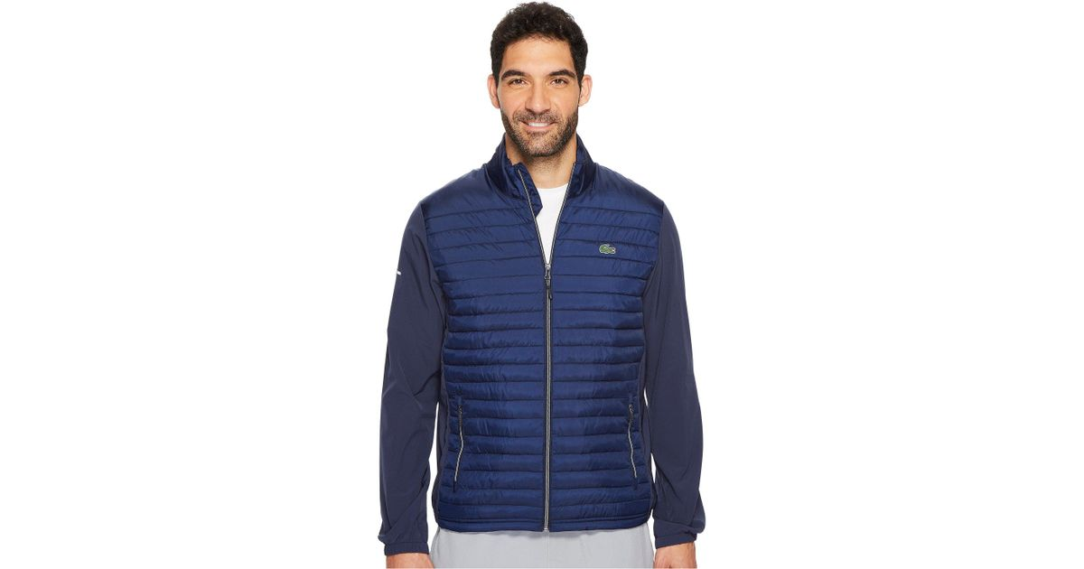 bab72dfb Lacoste Sport Water-resistant Technical Quilted Golf Jacket in Blue for Men  - Lyst