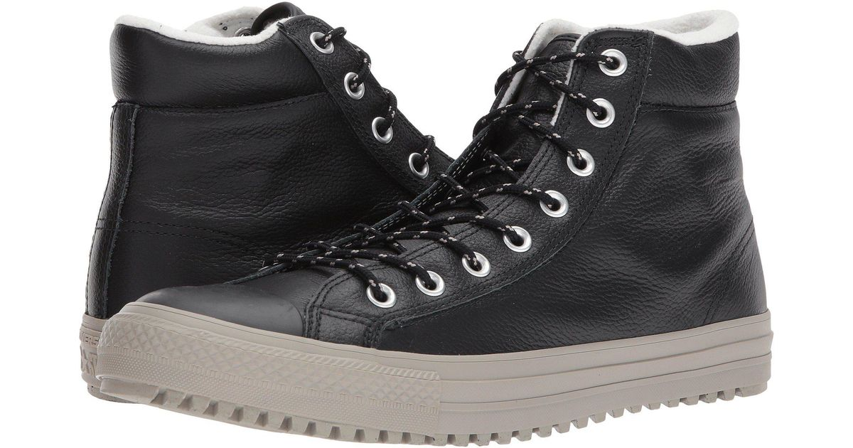 6545703d0c40b1 Lyst - Converse Chuck Taylor® All Star® Boot Pc Tumbled Leather Hi in Black  for Men