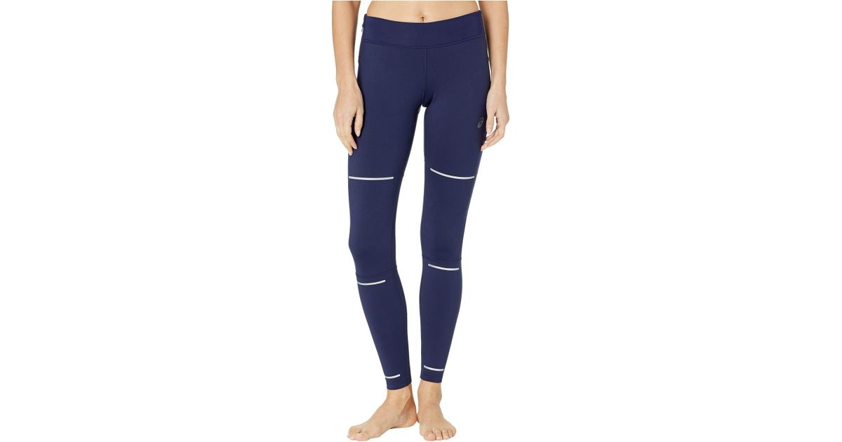 b2a19ae543 Lyst - Asics Lite-showtm Winter Tights (peacoat) Women's Workout in Blue