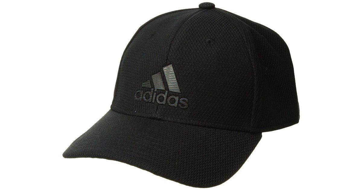 Lyst - adidas Enforcer Snapback (onix) Caps in Black for Men 998140f55992