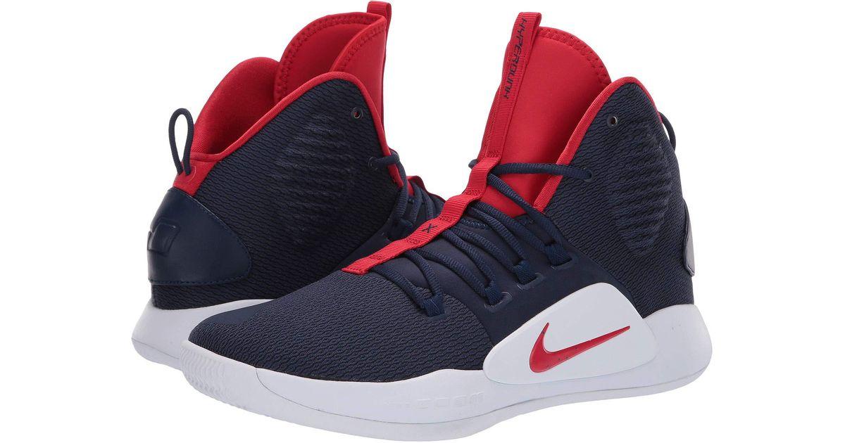 6409023536e Nike Hyperdunk X (midnight Navy university Red white) Men s Basketball Shoes  for Men - Lyst