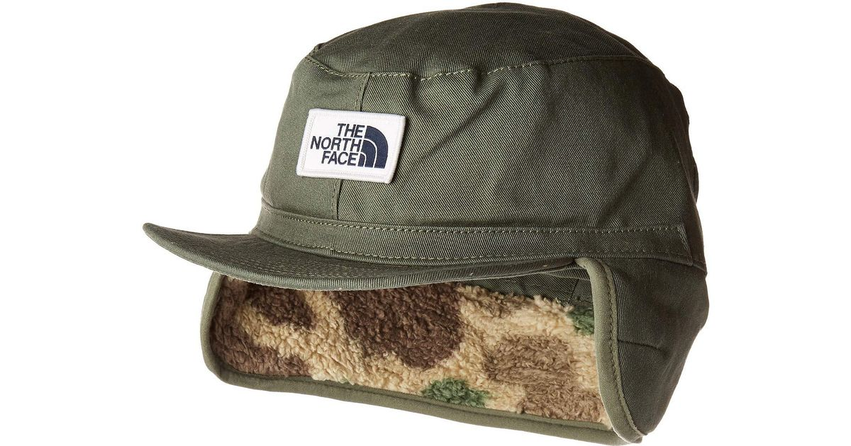 9d3ed327a1843 The North Face Campshire Earflap Cap in Green for Men - Save 20% - Lyst