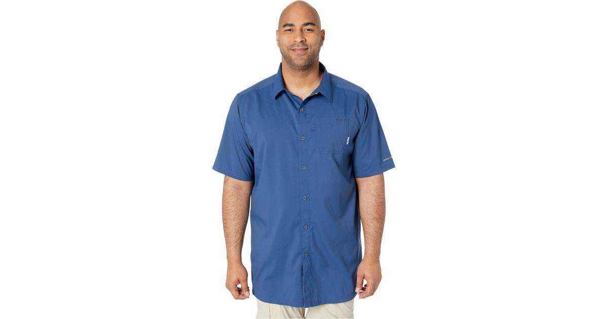 b5ccf86179f Lyst - Columbia Big Tall Slack Tide Camp Shirt (black) Men's Short Sleeve  Button Up in Blue for Men
