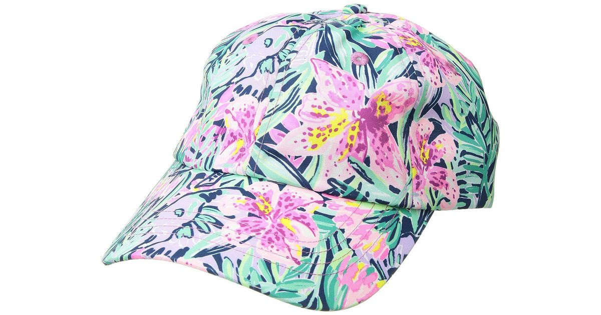 288f4cba6f6 Lyst - Lilly Pulitzer Run Around Hat (mandevilla Pink Extra Lucky) Baseball  Caps in Pink