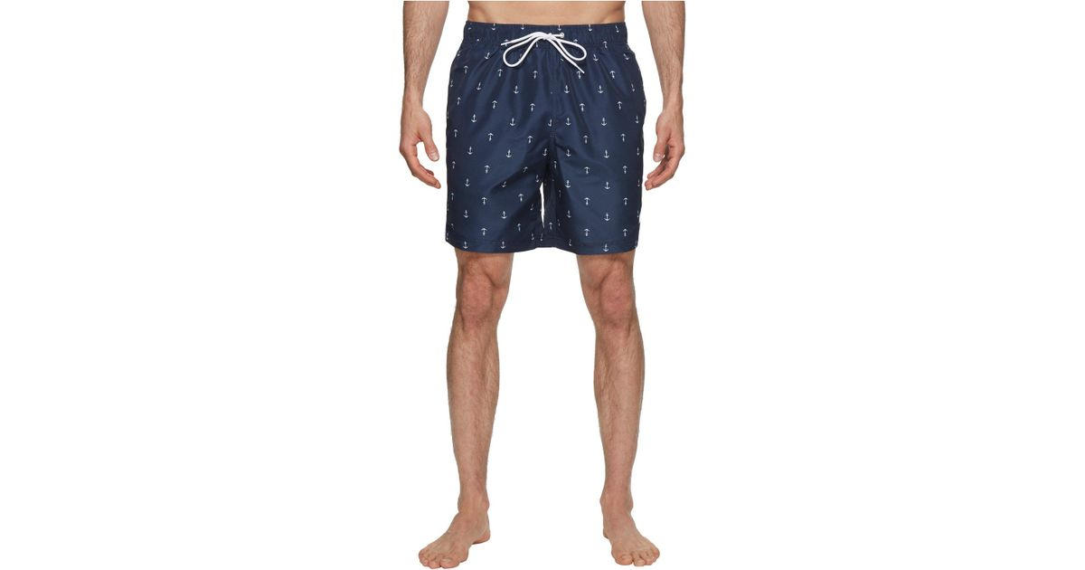 602a2cc4bae17 Lyst - Nautica Anchor Print Trunk (navy) Men's Swimwear in Blue for Men