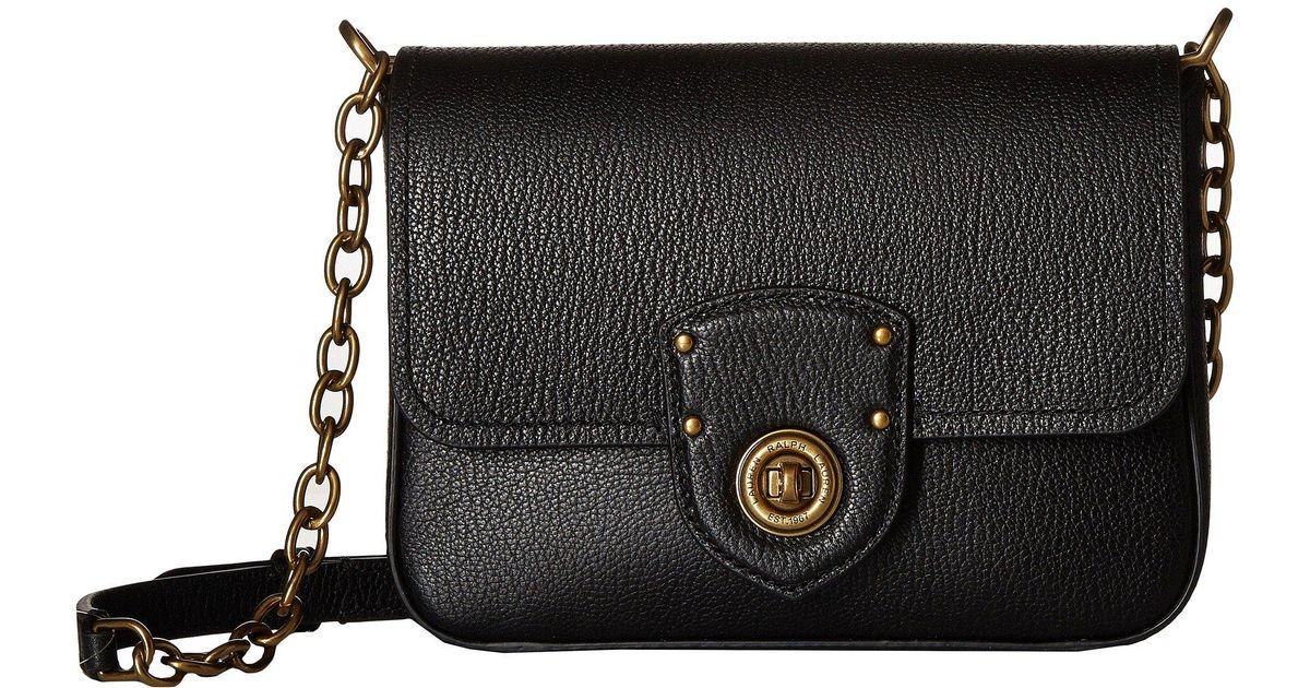 e18e0646fb Lyst - Lauren by Ralph Lauren Millbrook Chain Crossbody Small (sunflower) Cross  Body Handbags in Black