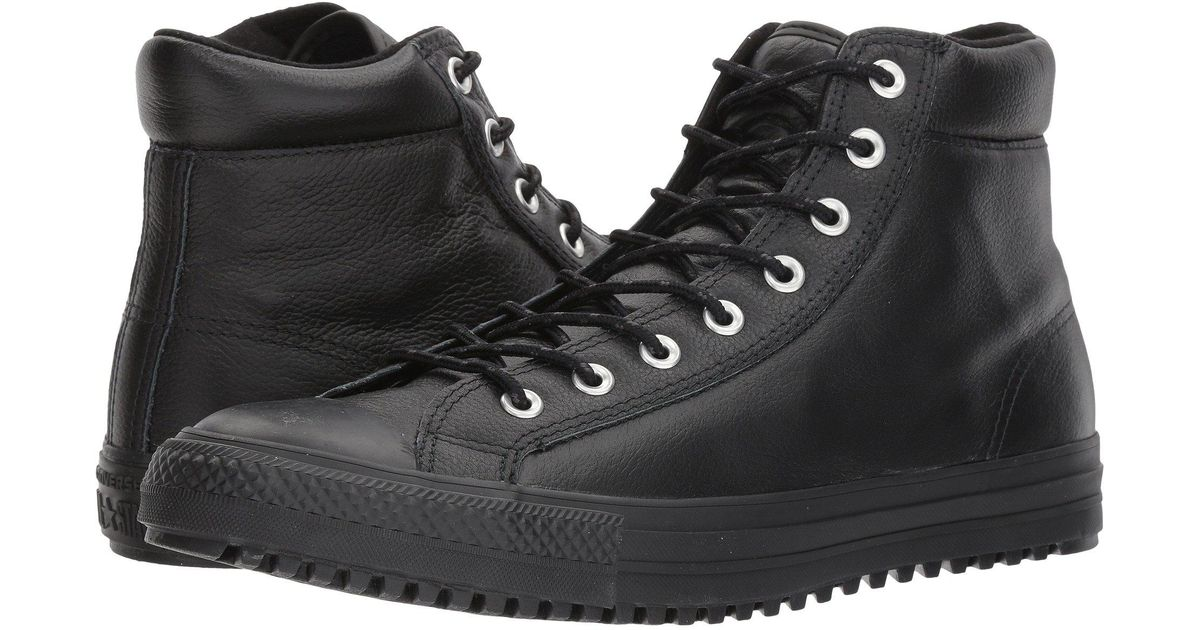 004c530f2baa Lyst - Converse Chuck Taylor® All Star® Boot Pc Tumbled Leather Hi in Black  for Men