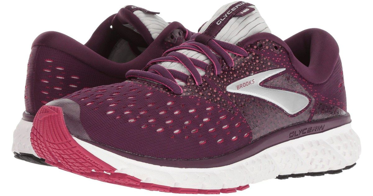fdf4b7e90ac Lyst - Brooks Glycerin 16 (ebony green black) Women s Running Shoes in  Purple