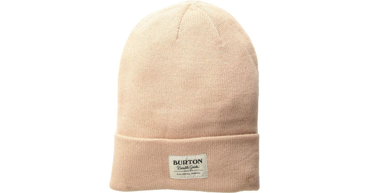 cf58c91448f Lyst - Burton Kactusbunch Tall Beanie (port Royal) Beanies in Natural for  Men