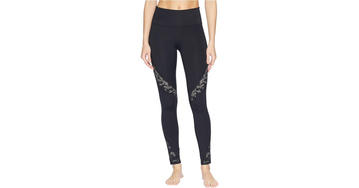 5ad9b414f83266 Under Armour Misty Copeland Signature Perforated Lace Leggings in Black -  Lyst