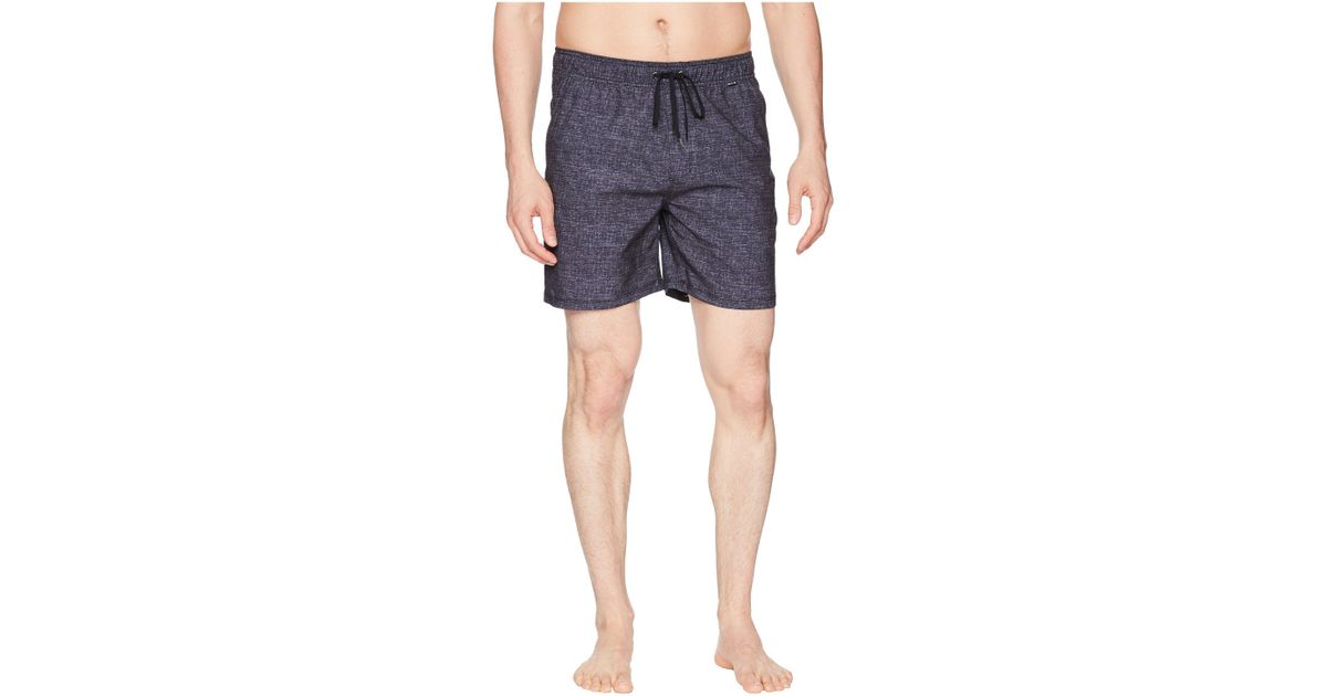 5f5e63cf4febc Hurley Heather Volley Board Shorts in Black for Men - Save 29% - Lyst