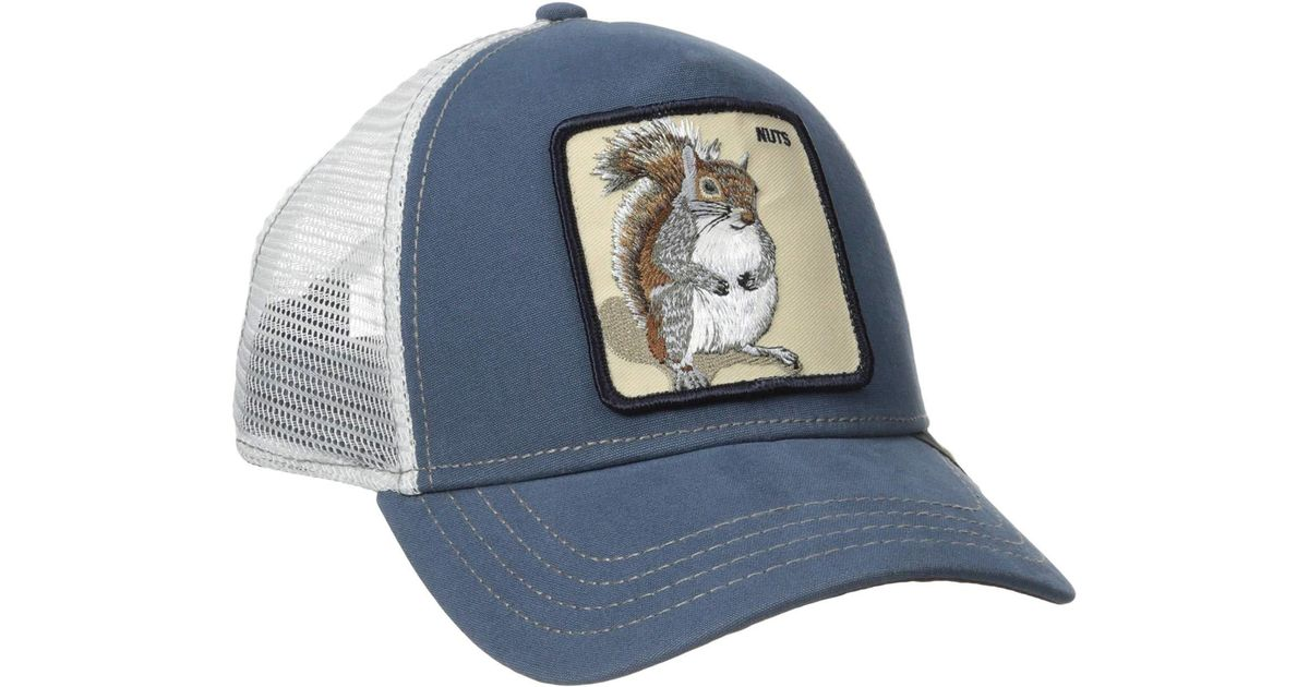 86519a42 Goorin Bros Animal Farm Snap Back Trucker Hat (brown Beaver) Caps in Blue  for Men - Lyst
