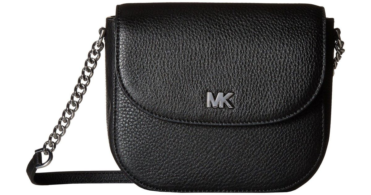 a16e306e038c Lyst - MICHAEL Michael Kors Half Dome Crossbody (vanilla acorn) Cross Body  Handbags in Black